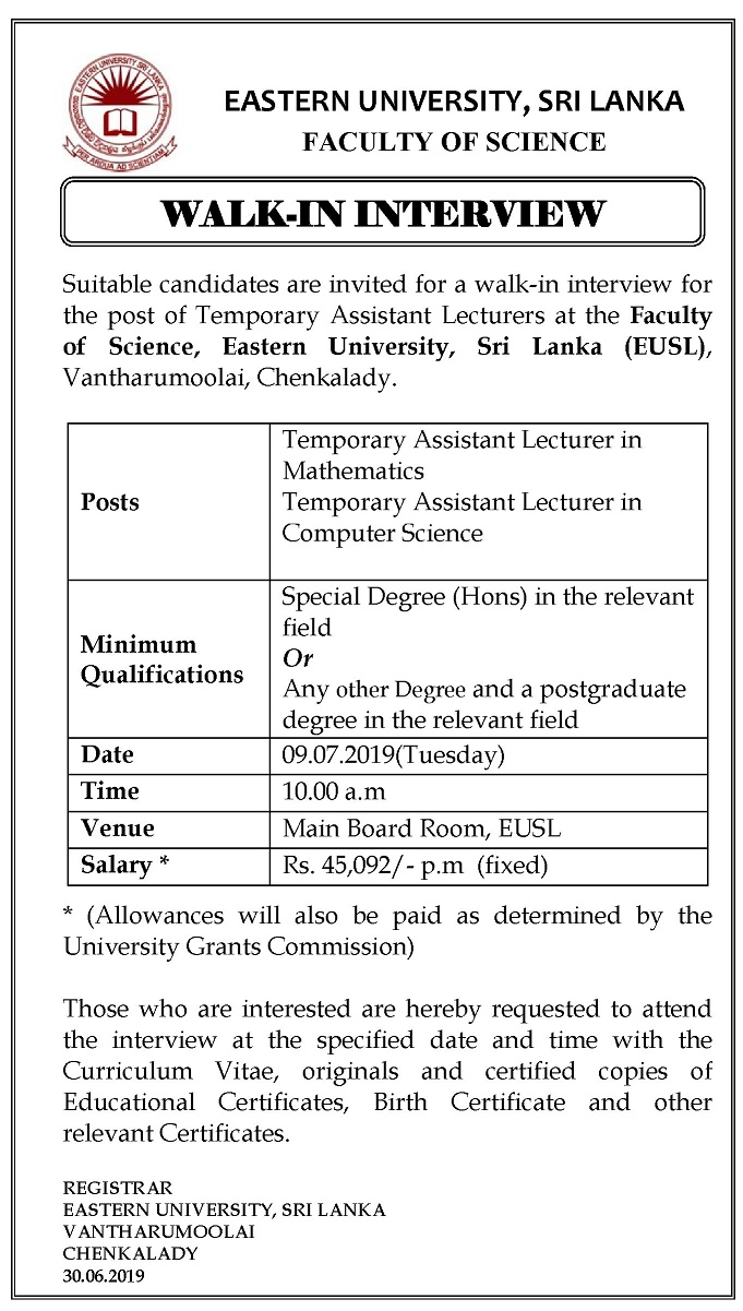 03072019 Walk in interview Adv TAL MathsCS Jul 2019